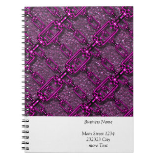 charming shiny chains purple pink (I) Spiral Note Book