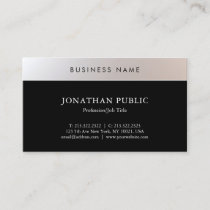 Charming Simple Modern Trendy Plain Professional Business Card