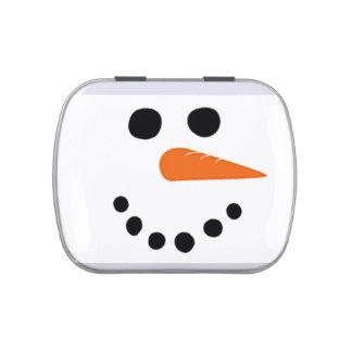 Charming Snowman Face Candy Tin