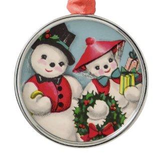 Charming Snowmen Couple