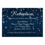 Charming Star Struck   Navy Blue Pack Of Chubby Business Cards