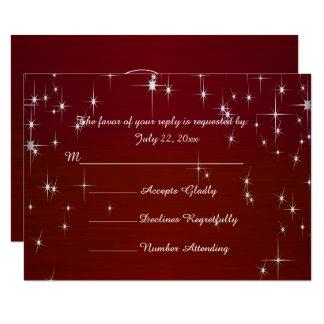 Charming Star Struck Wedding   Burgundy Red Card