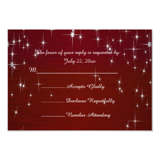 Charming Star Struck Wedding | Burgundy Red Card