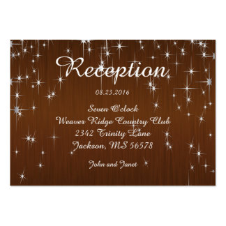 Charming Star Struck Wedding | Chocolate Brown Large Business Card
