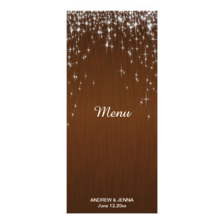 Charming Star Struck Wedding | Chocolate Brown Rack Card