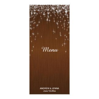Charming Star Struck Wedding | Chocolate Brown Rack Card