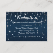 Charming Star Struck Wedding | Navy Blue Enclosure Card