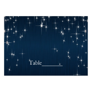 Charming Star Struck Wedding | Navy Blue Large Business Card