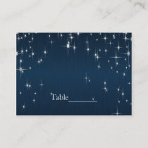 Charming Star Struck Wedding | Navy Blue Place Card
