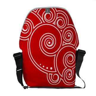 Charming Swirls Messenger Bag - White Swirls