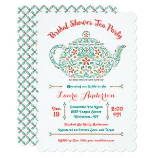 Charming Teapot Bridal Shower Invitation