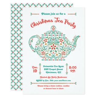 charming_teapot_christmas_tea_party_invitation r978b330d5999498997fa35e6e2d2d655_6gduf_324?rlvnet=1 christmas tea party invitations & announcements zazzle,Christmas Tea Party Invitations