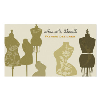 Charming Vintage Antique  Mannequins Double-Sided Standard Business Cards (Pack Of 100)