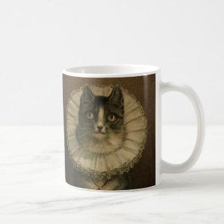 Charming Vintage Cat Custom Mug