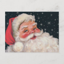 Charming Vintage Santa Claus Holiday Postcard