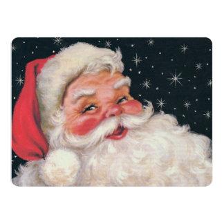 Charming Vintage Santa Claus 6.5x8.75 Paper Invitation Card