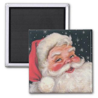 Charming Vintage Santa Claus 2 Inch Square Magnet