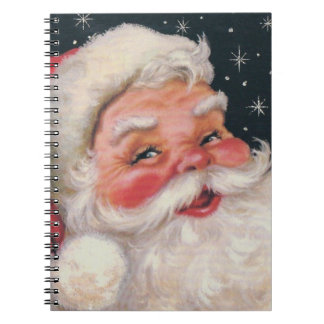 Charming Vintage Santa Claus Notebook