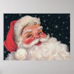 Charming Vintage Santa Claus Poster