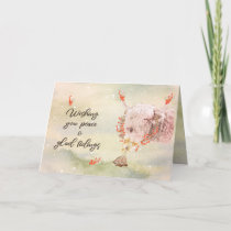 Charming Watercolor Christmas Cow Holiday Card
