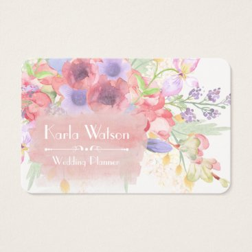 Professional Business Charming Watercolor Floral Business Cards