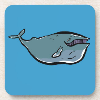 charming whale drink coaster