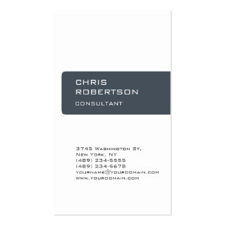 Charming White Gray Attractive Business Card