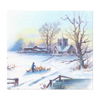 Charming Winter Scene 2 Gallery Wrap Canvas