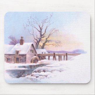 Charming Winter Scene 3 mousepad