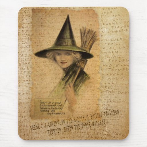 Charming Witch Mouse Pad
