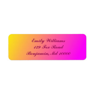 Charming Yellow and Pink Gradient Label