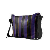 Charmingly Striped Messenger Bag
