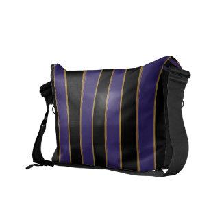 Charmingly Striped Messenger Bag