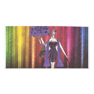 charnay's fashion illustration photo greeting card