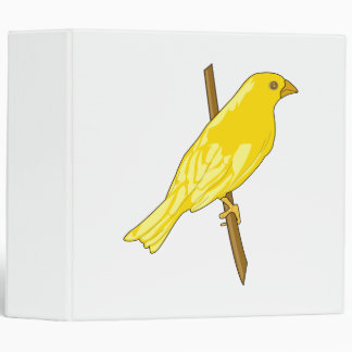 Charnille Canary 3 Ring Binder