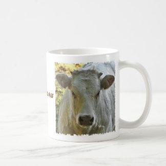 Charolais cow mug