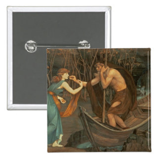 Charon and Psyche 2 Inch Square Button