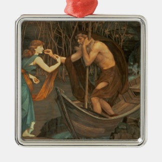 Charon and Psyche Metal Ornament