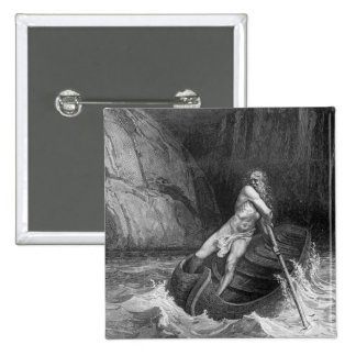 Charon, the Ferryman of Hell 2 Inch Square Button