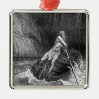 Charon, the Ferryman of Hell Metal Ornament