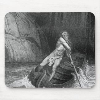 Charon, the Ferryman of Hell Mouse Pad