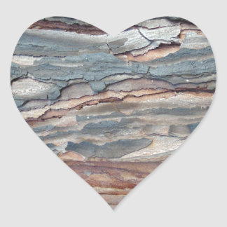 Charred Pine Bark Heart Sticker