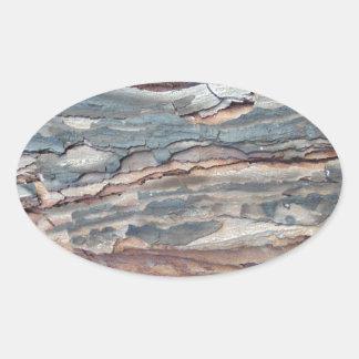 Charred Pine Bark Oval Sticker