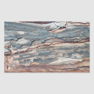 Charred Pine Bark Rectangular Sticker