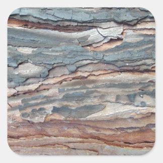 Charred Pine Bark Square Sticker