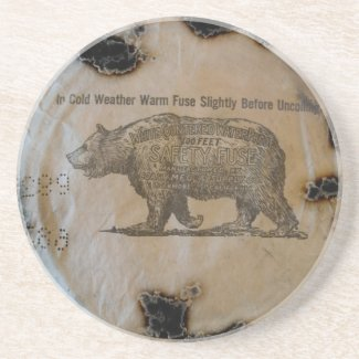 Charred Rolled Fuse Drink Coaster