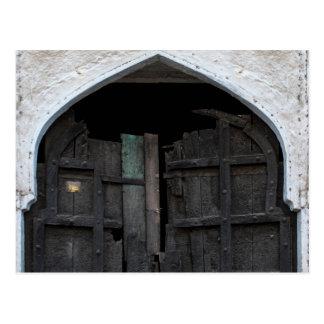 Charred Wooden Door Postcards