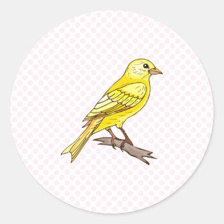 Charry Canary Classic Round Sticker