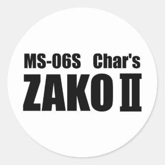 Char's ZAKO Classic Round Sticker