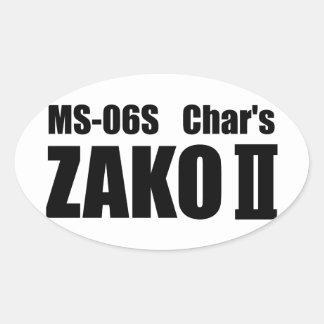 Char's ZAKO Oval Sticker